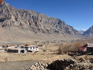 Overlooking Losar, a small village in the Spiti valley.