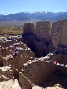 Ruins above Shey monastery.