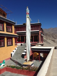 The central courtyard of Tikksey monastery, east of Leh.