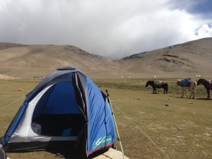 Sharing the valley with nomads, their goats and smokey yurts for the night.