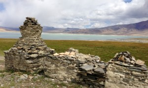 Stupas on the south shore of Tso Kar. It feels like the lake stretched on forever, flanking its shore and continuing on the next day.