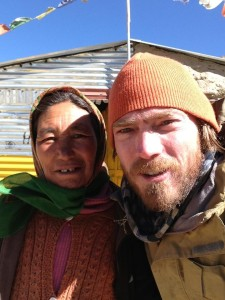One of about 30 similar structures bordering the roadway in Sarchu, this kind woman ran a small guesthouse (really one large mattress inside) along with a kerosene stove to boil water for nescafe coffee and make egg omelets for a quick breakfast after Pang and Lachalung La. With no way to fill the now-empty plastic cans attached to the back of the motorbike, she is impressed with the containers so much that I decide to part with one. Purchased in Leh and originally used to transport some sort of cooking oil, those that with the smaller 13 L fuel tanks use two of these to carry petrol, adding range.