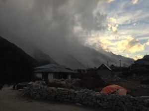 1 of 4. Clouds and blowing snow that seemed to have snuck in from nowhere. Chitkuls houses are almost all made of timber and have a warm feeling them them. The guesthouse I stayed in was poured concrete though I can't say the reduced risk of fire is a horrible trade off.