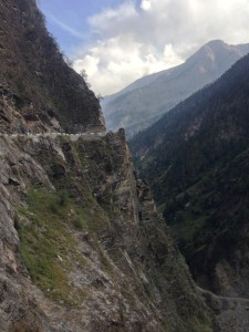 Another curve along the Sangla-Chitkul Road. Soon, the road passes through Sangla and serious of other small villages where it is less dangerously dramatic but as gorgeous especially as it enters a protected forest.