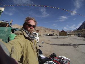 On the way for Pang and with a later than planned start out of Leh, I take a selfie at the checkpoint in Upshi. Having passed through before on a trekking trip to Rumste, I'd figured I knew where the police men where stationed, and thus nearly barreled past their actual post, stopping to sound of a loud whistle.