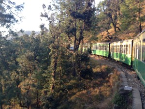 A bend in top near the last stop, Shimla.