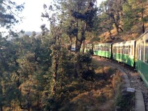 A bend in top near the last stop, Shimla.
