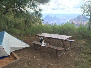 Room with a view; the  few hike-in sites directly along the north rim. if you're eating edibles from colorado, better set down ;)